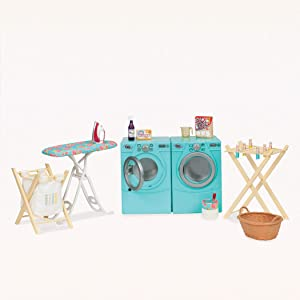 "Our Generation by Battat- Tumble & Spin Laundry Set for 18"" Dolls- Toys, Clothes & Accessories for Girls 3-Year-Old"