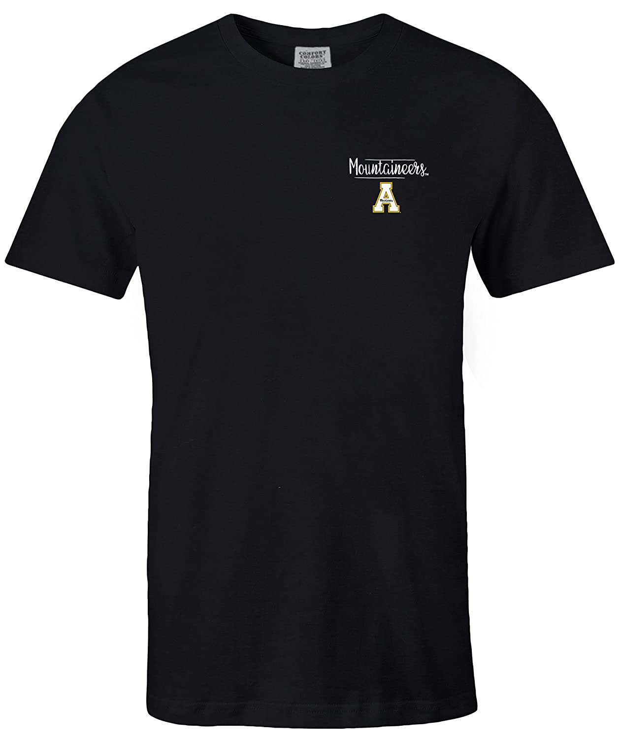 Large,Black NCAA Appalachian State Mountaineers Adult NCAA Sketchbook Comfort Color Short sleeve T-Shirt