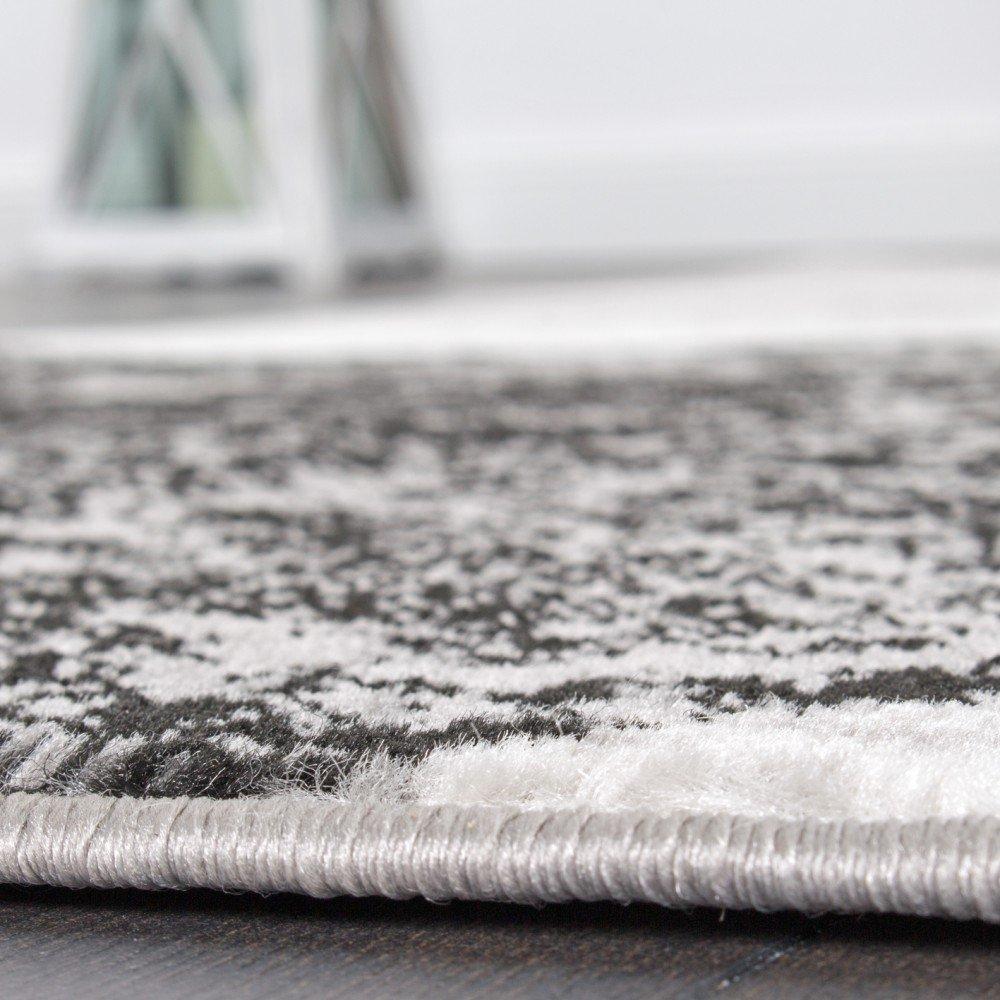Paco Home Tappeto di Design per Salotto Motivo A Cerchio Grigio Crema Prezzo Eccezionale Dimensione:60x100 cm