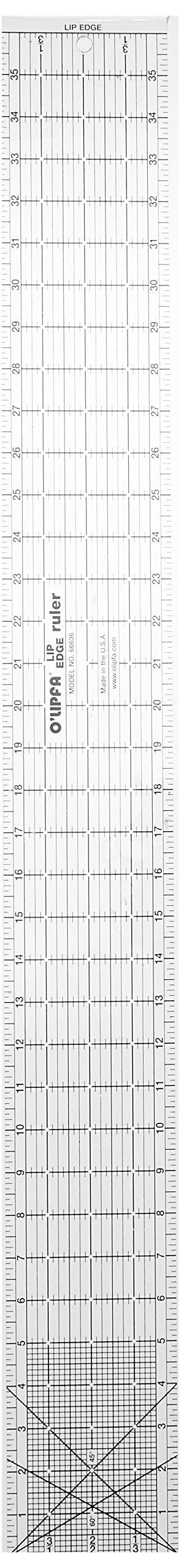 O'Lipfa 66636 Ruler with Lip Edge, 4 x 36-Inch by O'Lipfa