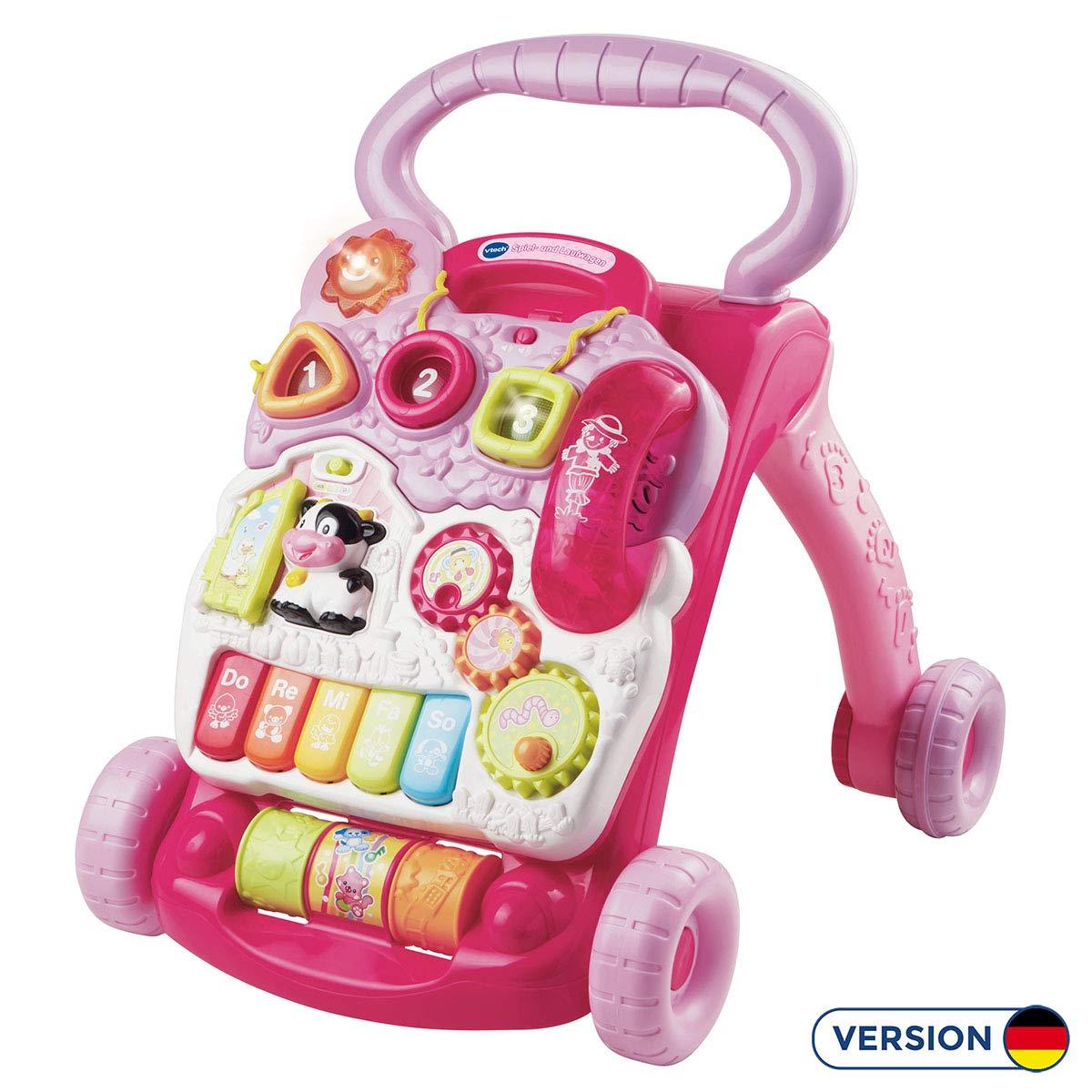 VTech Baby - Correpasillos andandín 2 en 1, Color Rosa, versión ...