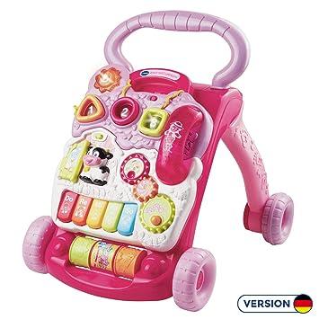 VTech Baby - Correpasillos andandín 2 en 1, Color Rosa, versión Alemana