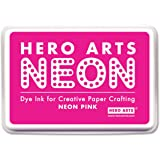 Hero Arts Rubber Stamps Neon Ink Stamp Pad, Pink