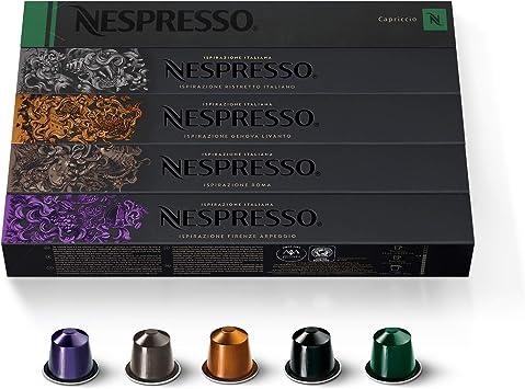 Nespresso - Cápsulas originales de café, Surtido de 50 Cápsulas ...