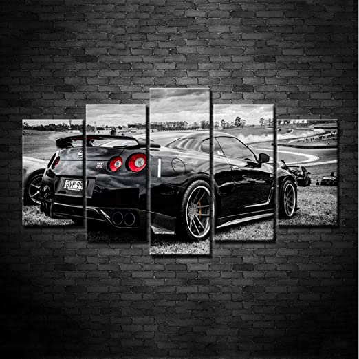 "Nissan Gtr Sports Car   PICTURE CANVAS WALL ART 20/""X30/"" offer"