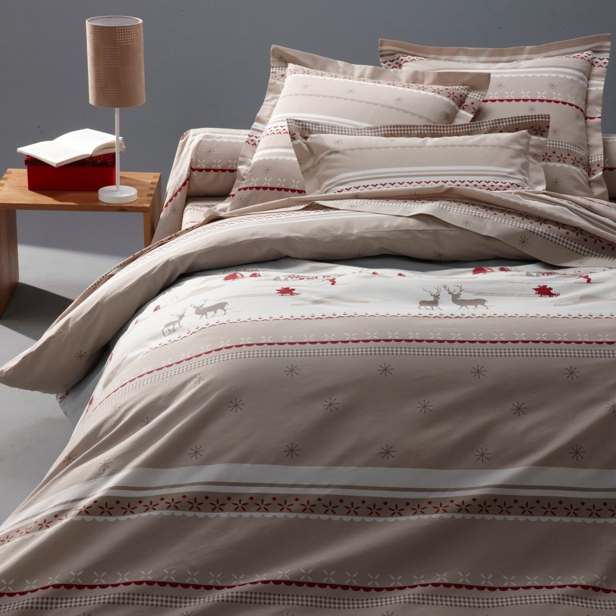 Copripiumino La Redoute.La Redoute Interieurs Tyrol Printed Cotton Duvet Cover Beige Size