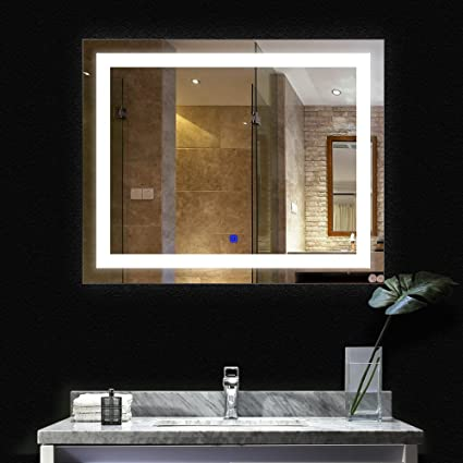 Amazon.com: BATH KNOT ETL LED Wall Mounted Backlit Mirror With ...