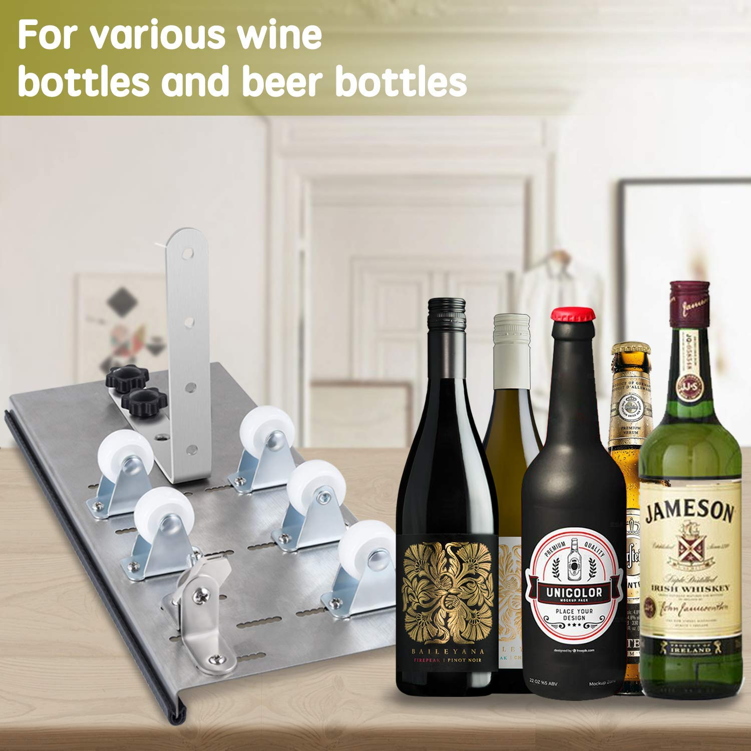 Kalawen Glass Bottle Cutter Bottle Cutter Latest Version DIY Machine for Cutting Wine Beer Whiskey Alcohol Champagne to Craft Glasses Accessories Tool Kit Gloves Fixing Rubber Ring by Kalawen (Image #3)