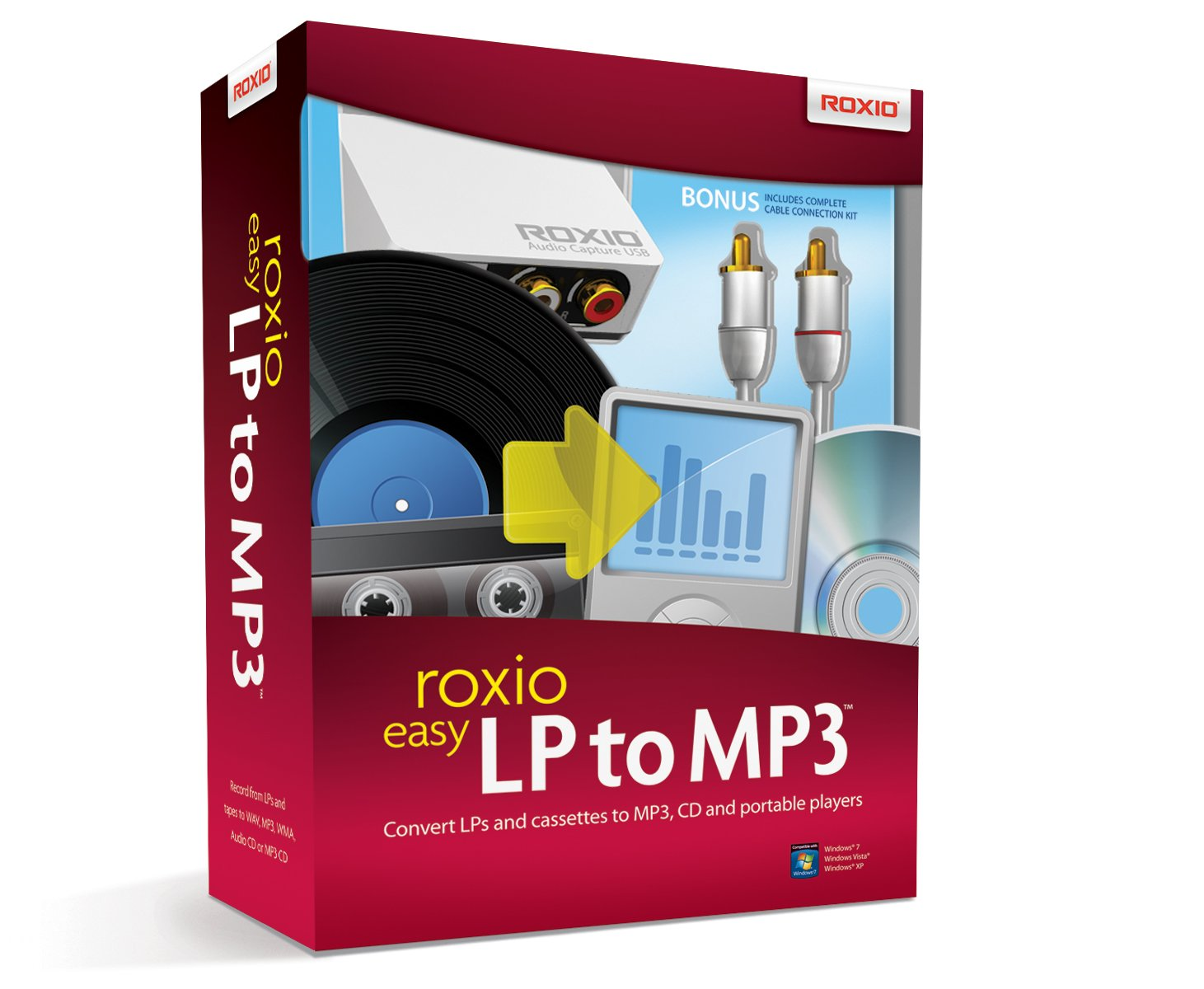 Roxio Easy LP to MP3 Audio Capture and Conversion Module and Software for PC by Roxio