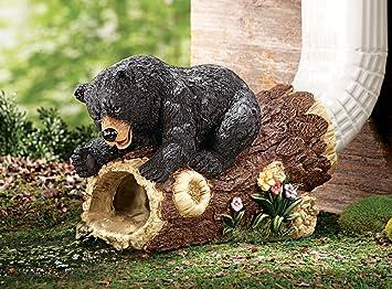 curious bear decorative downspout extension brown - Decorative Downspouts
