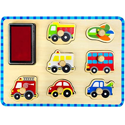 Amazon com: Tooky Toy Transportation Stamp Puzzle: Toys & Games