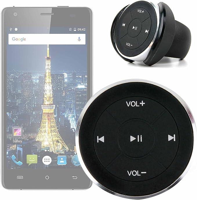 DURAGADGET Mando inalámbrico para Control Multimedia de su Smartphone Cubot King Kong/Cubot Echo/Oukitel Mix 2. Incluye Accesorios: Amazon.es: Electrónica