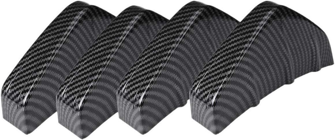 Tiamu 4 Piezas Divisor de Aletas de Tibur/óN Difusor de Labios de Parachoques Trasero de Coche de Aspecto de Fibra de Carbono Universal