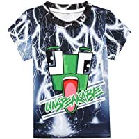 Dotrewes Boys Graphic T-Shirts Funny 3D Graphic Shirt Casual Tees
