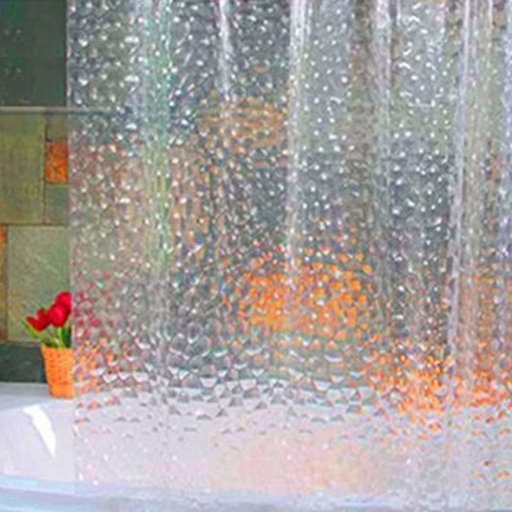 KODOO Bagno Tenda Doccia in PEVA Impermeabile PVC Antiscivolo, 183x 183cm, 182,9cm W x 182,9cm l–Trasparente (3D Water Cube).