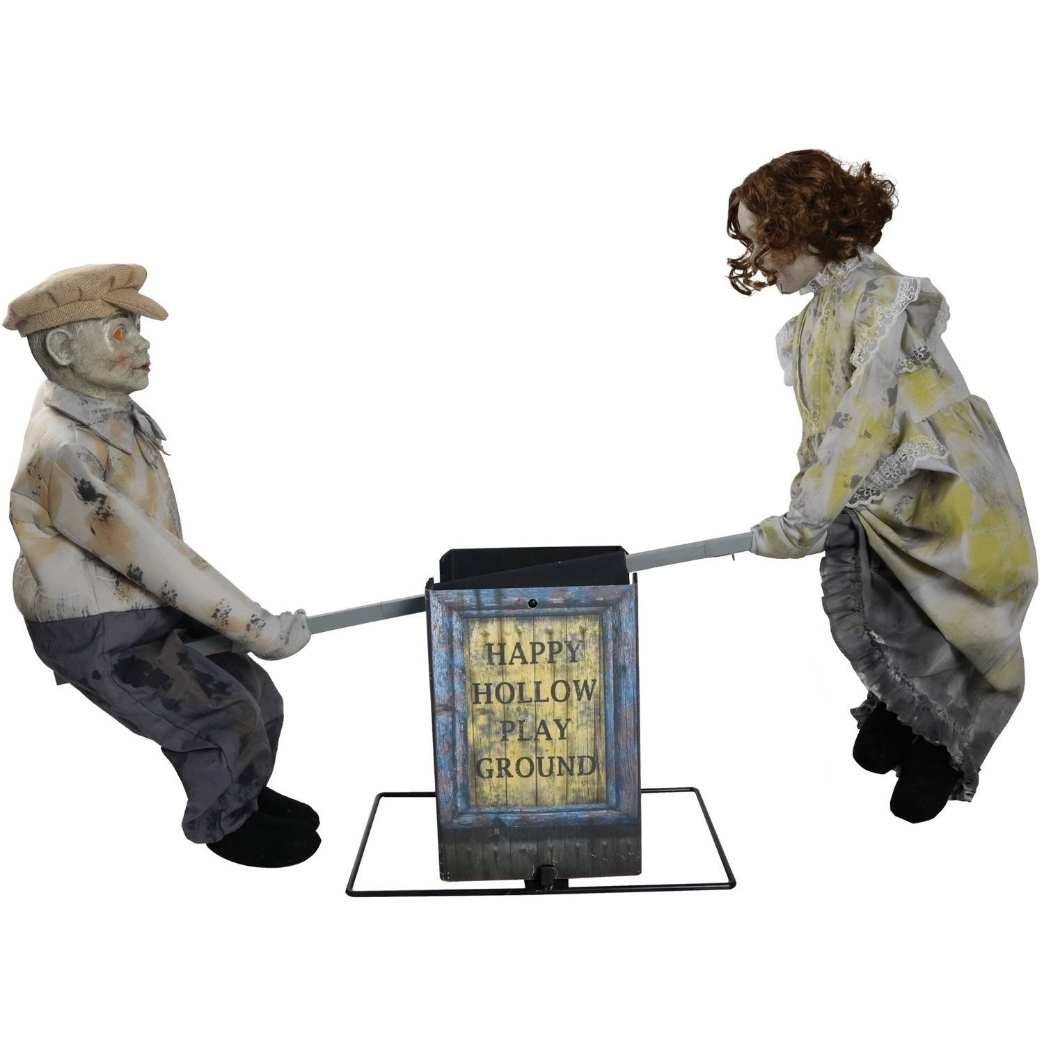 Halloween Outdoor Decoration Creepy See Saw Dolls Playground with Sound Effects