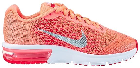 Nike Mädchen Kinder Laufschuh Air Max Sequent 2 Gymnastikschuhe, Schwarz (BlackAnthrazitCool GreyRacer Pink)