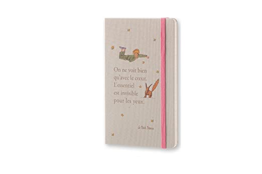 Moleskine 2016-2017 Le Petit Prince Limited Edition Weekly Notebook, 18M, Large, Light Grey, Hard Cover (5 x 8.25)