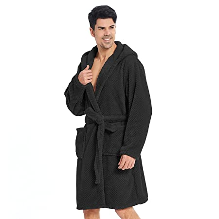 Bathrobe XXXL Short Women Men Unisex Hooded Dressing Gown Microfibre Soft  Snug Cosy Fleece 160e2128b