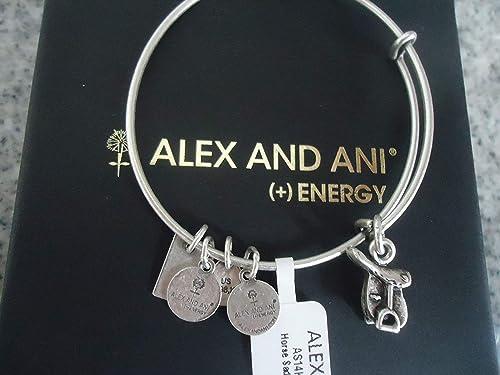 30d4ccbc5a222a Alex and Ani Horse Saddle II Charm Bangle in Rafaelian Silver, AS14KD07RS:  Amazon.ca: Jewelry