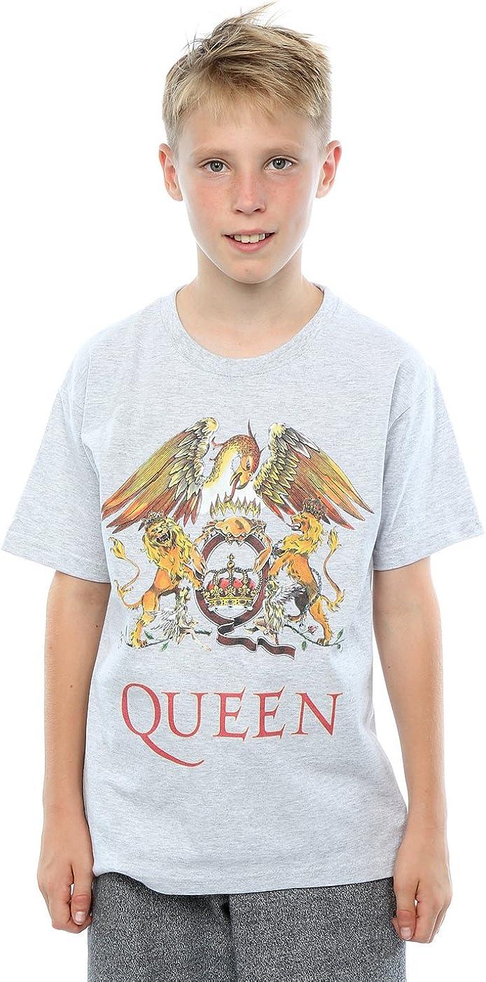 Queen niños Crest Logo Camiseta