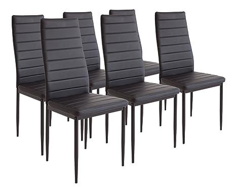 Albatros milano set di sedie da pranzo nero amazon