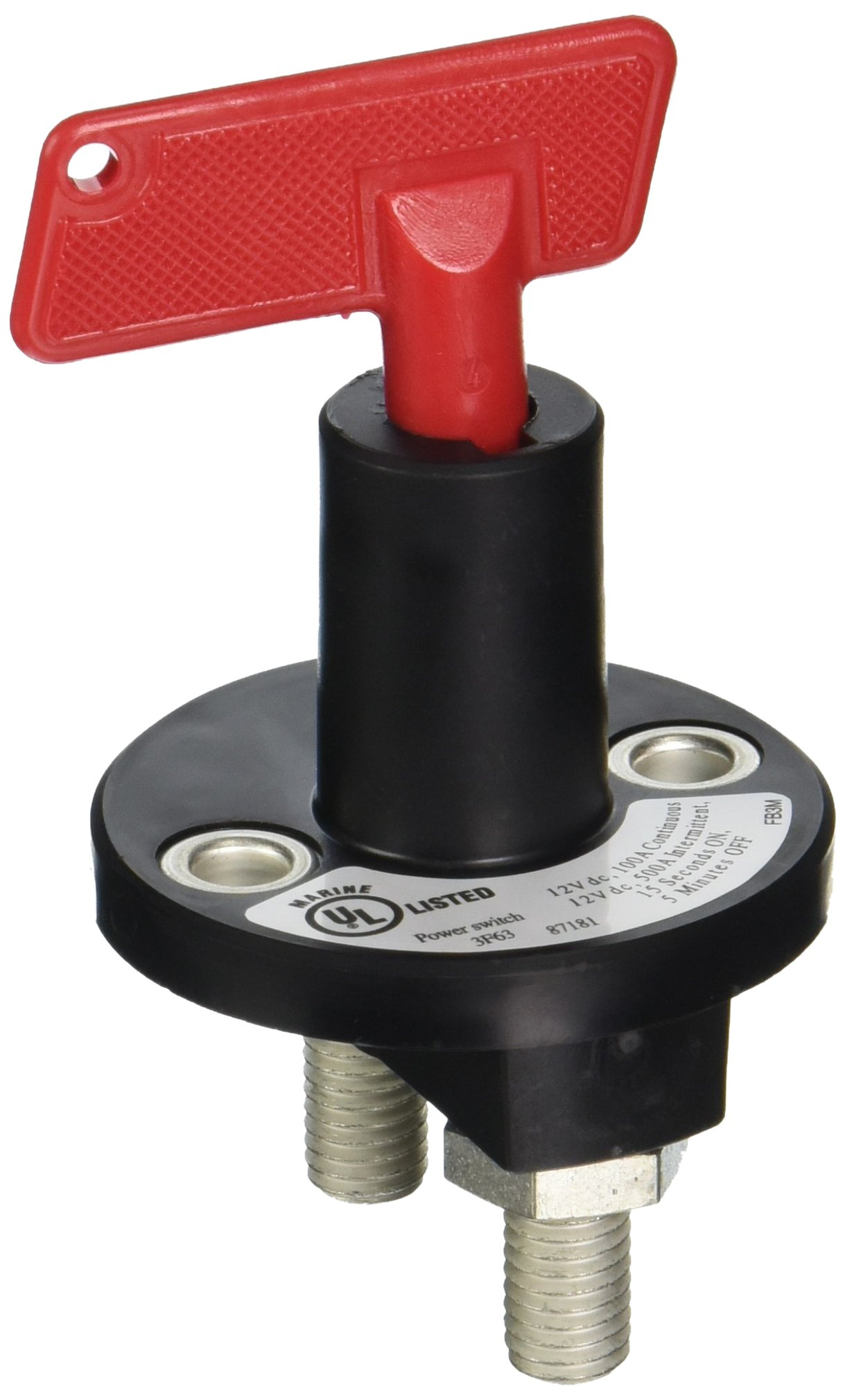HELLA (2843011) 100-Amp at 24V Battery Disconnect Switch Rotary
