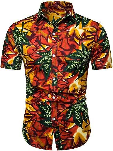 Cocoty-store 2019 | Funky Camisa Hawaiana | Señores |Manga Corta | Bolsillo Delantero | impresión De Hawaii | Playa Playa Fiestas, Verano y Vacaciones,S/M/L/XL/2XL,Amarillo: Amazon.es: Ropa y accesorios