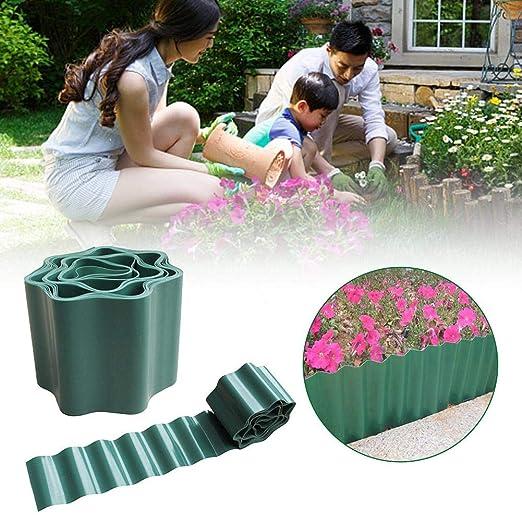tomation DIY Jardín Bordes Mini Verde Vallado De Plástico Flexible ...