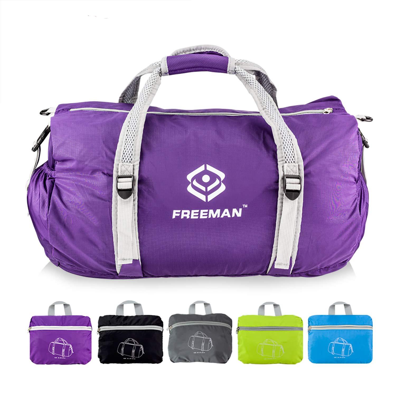 Small Sports Duffel Gym bag for Men Women Kids,Lightweight Waterproof with Pockets