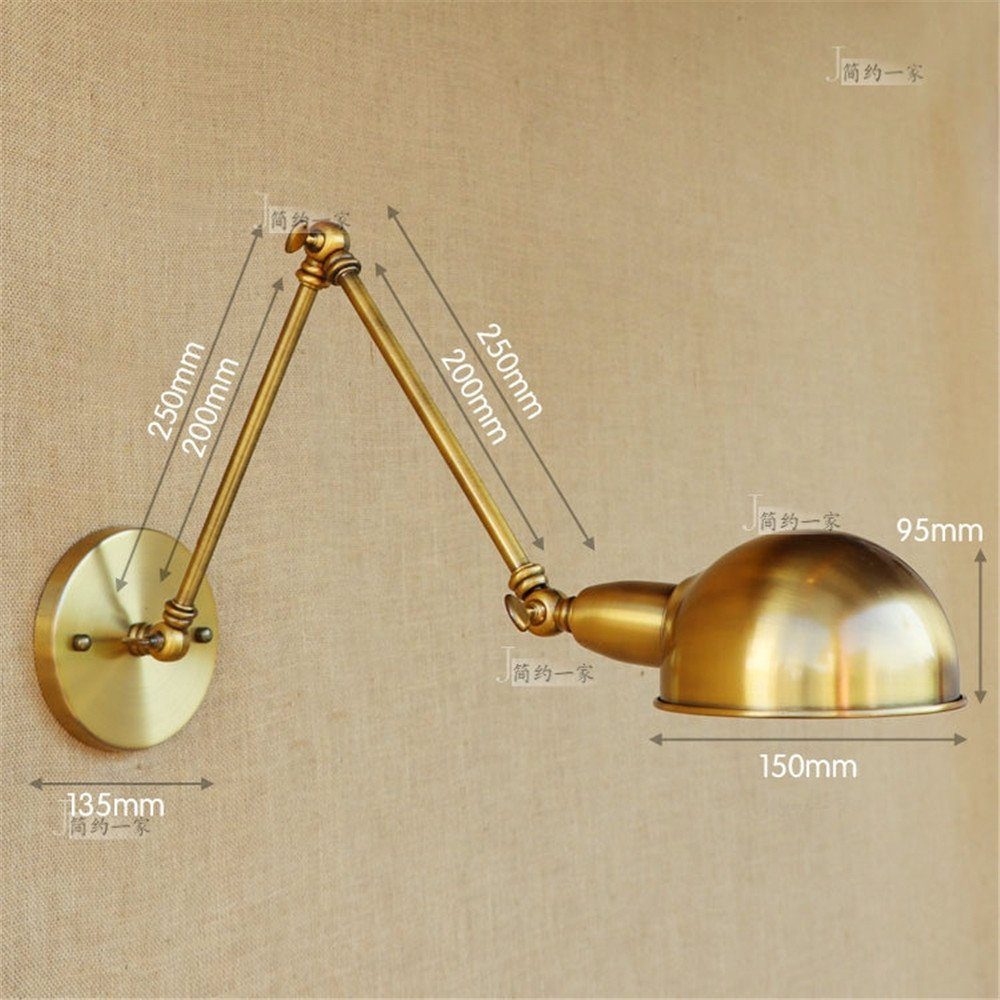 Avanthika E27 Wall Sconces Mounted Wall Lamps Retro Iron Wall Lights Restaurant The Road Study-Bluetooth Dance Claw Double Section Led Wall Lamp