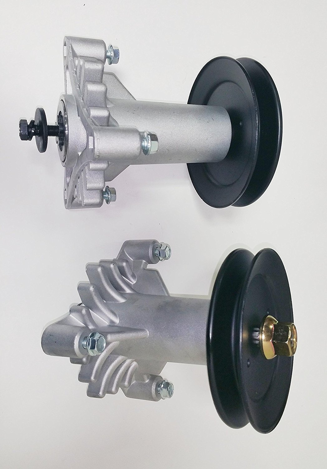 2 Complete Sets Spindle Assembly Replacement for 130794/532130794 with 2 Pulleys Replacement for 129861 153535 173436 and Mounting Bolts in Tapped Holes