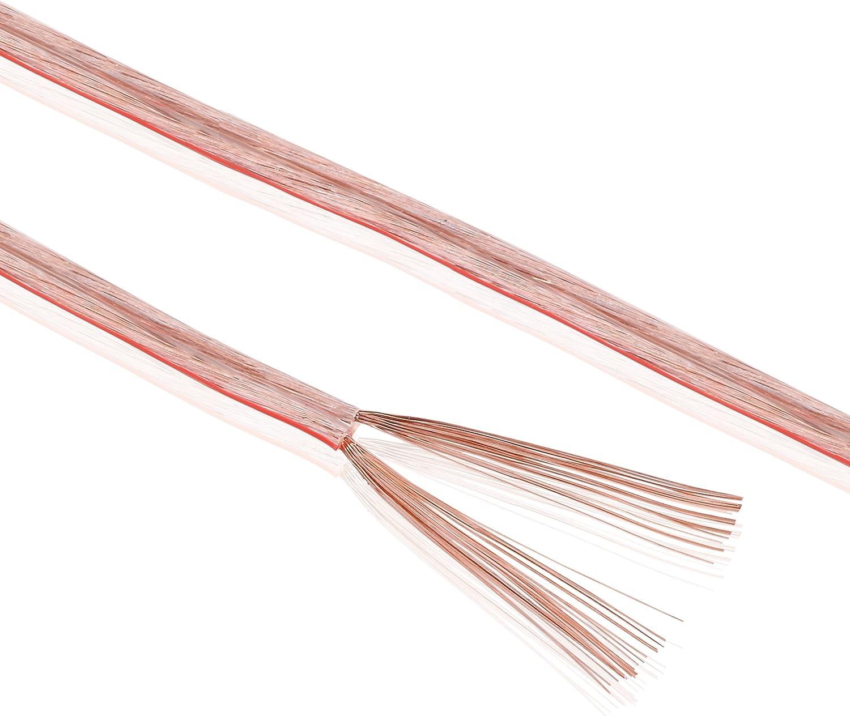 Sonero S-SC2150T-10 Cables para Altavoces CCA, 10 m, Transparente