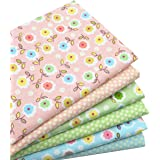 """iNee Floral Fat Quarters Quilting Fabric Bundles, Sewing Fabric for Quilting Crafting, 18"""" x 22"""" (Multi)"""