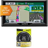 "Garmin nuvi 67LM 6"" 010-01399-01 Essential Series 2015 GPS Navigation System w Lifetime Maps Nav-Mat Portable GPS Dash Mount"