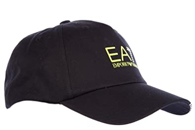Emporio Armani EA7 adjustable men s cotton hat baseball cap fluo black UK  size M 275476 5A297 76e86101f49