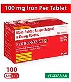 Carbamide Forte Iron + Vitamin C + Folic Acid Tablet | Better Iron Absorption - Fast Acting | Ferrous Ascorbate + Folic Acid Supplement (100 Tablets)