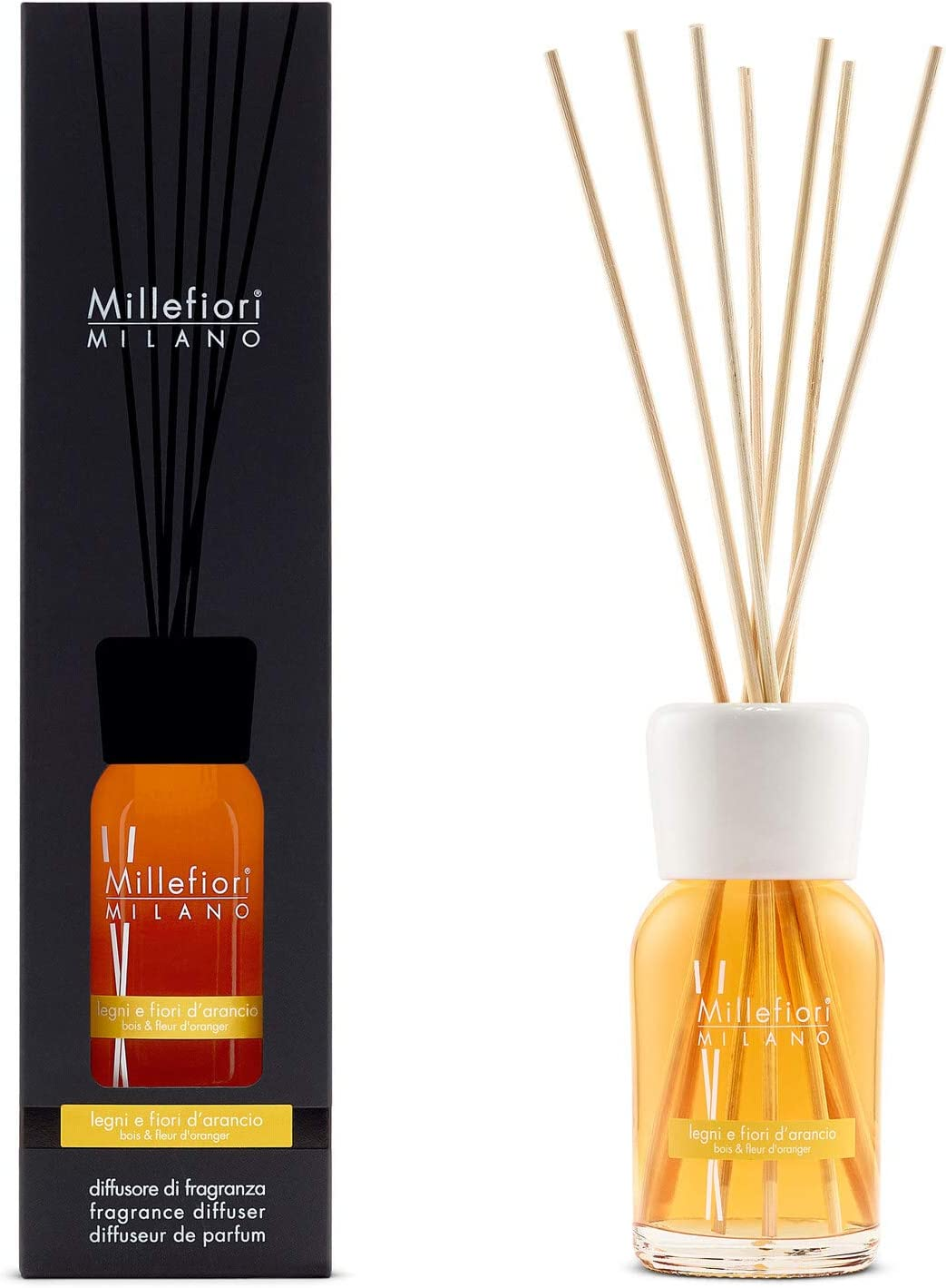 Amazon Com Millefiori Natural Fragrance Diffuser Legni E Fiori D Arancio 100ml 3 38oz Health Personal Care