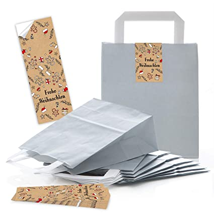 100 claro gris natural papel kraft bolsa de papel Bolsa de ...