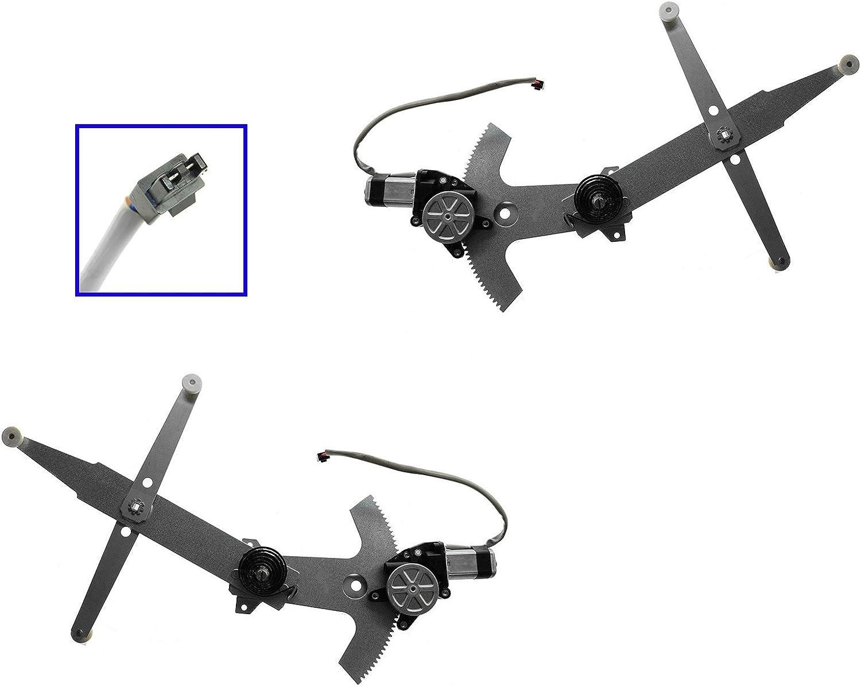 Power Window Regulator w//Motor LH /& RH Pair Set of 2 for 93-02 Firebird Camaro