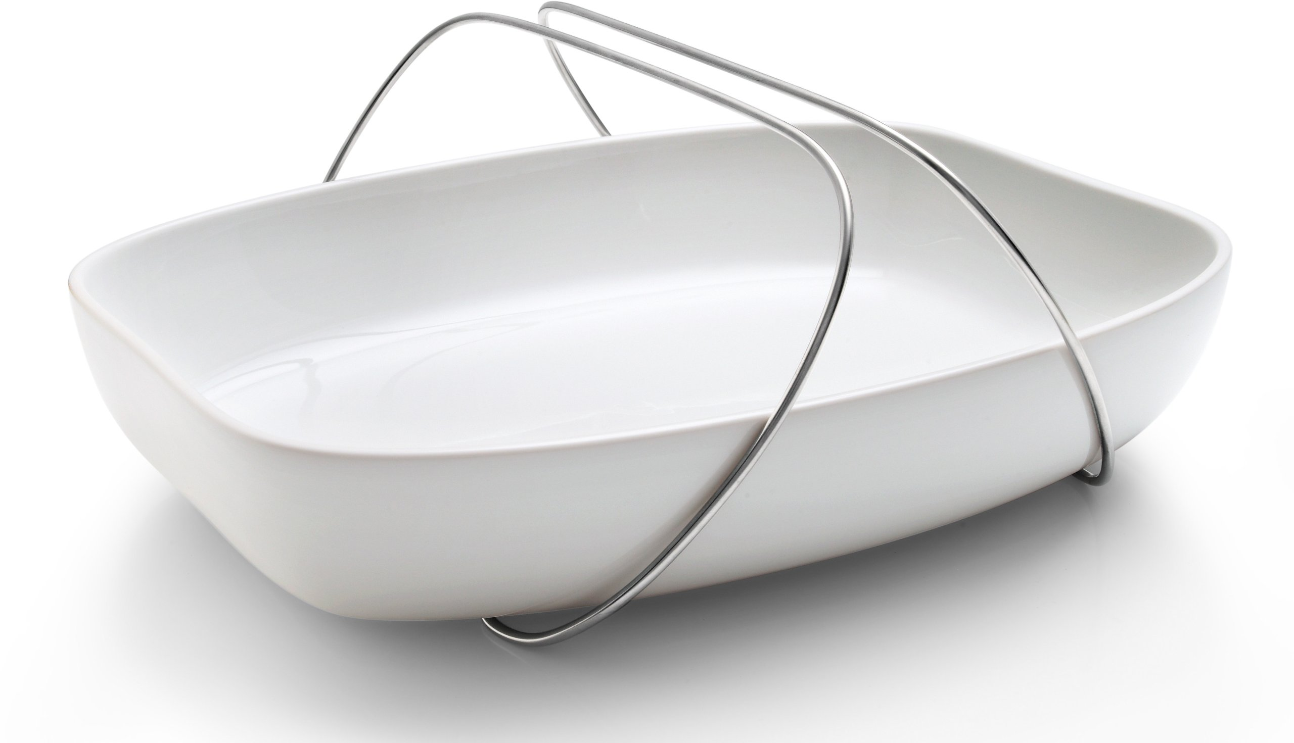 Eva Solo Dish with Handle, Small, 26 by 20 by 6cm, White