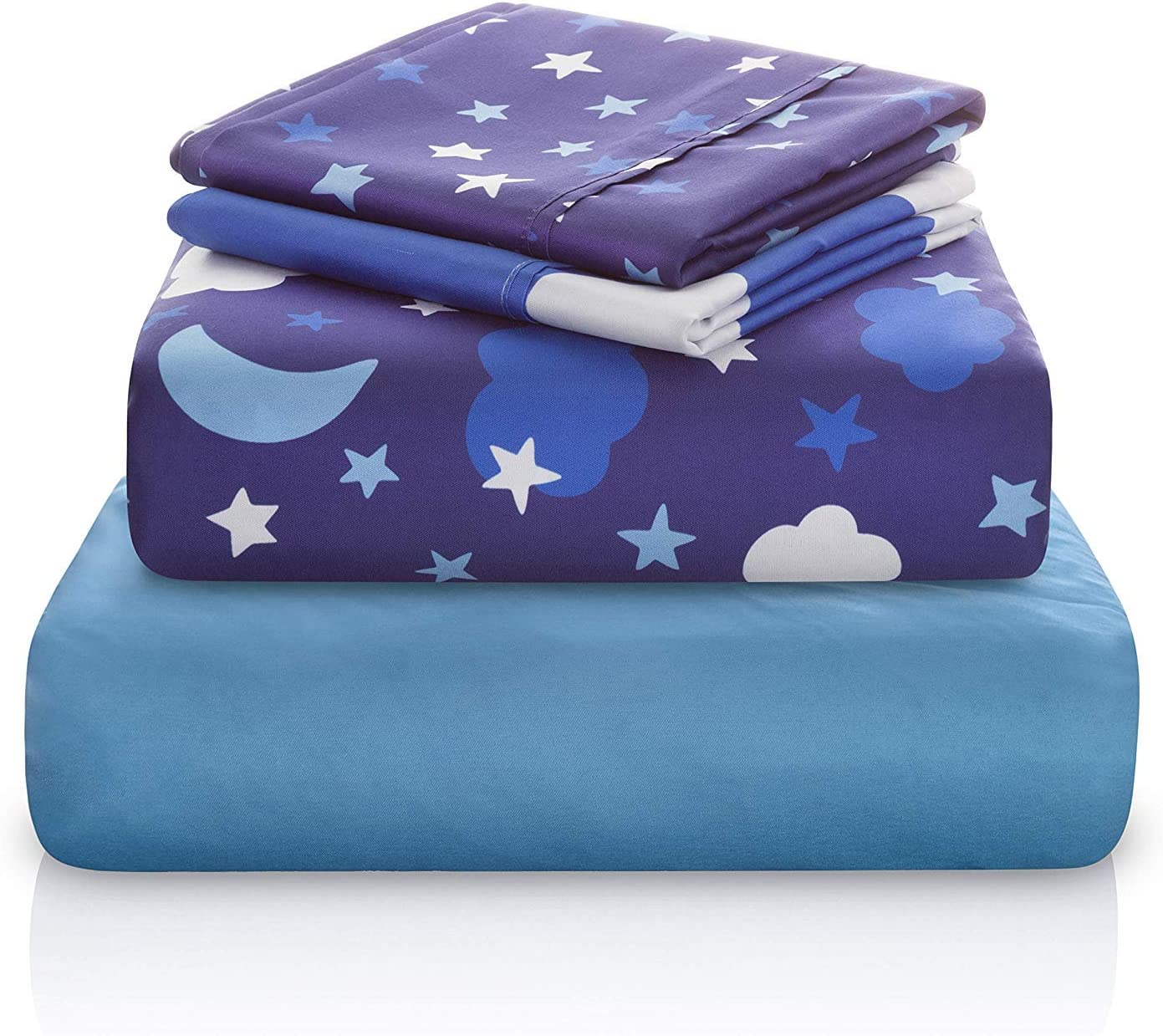 Starry Night Sky Print Kids Bed Sheet
