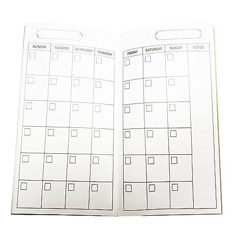 Pagina Calendario Settimanale.Journal Refill Paper Packs Inserto Con Calendario