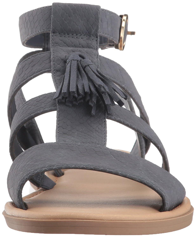 Dr. Scholl's Schuhes Frauen Flache Sandalen Blau Blau Blau Snake Print 7fe7e9