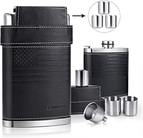 Gennissy 18/8 Stainless Steel 8oz Flask