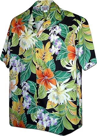 e9d30472 Image Unavailable. Image not available for. Color: Hawaiian Aloha Shirt  Paradise Jungle Black ...