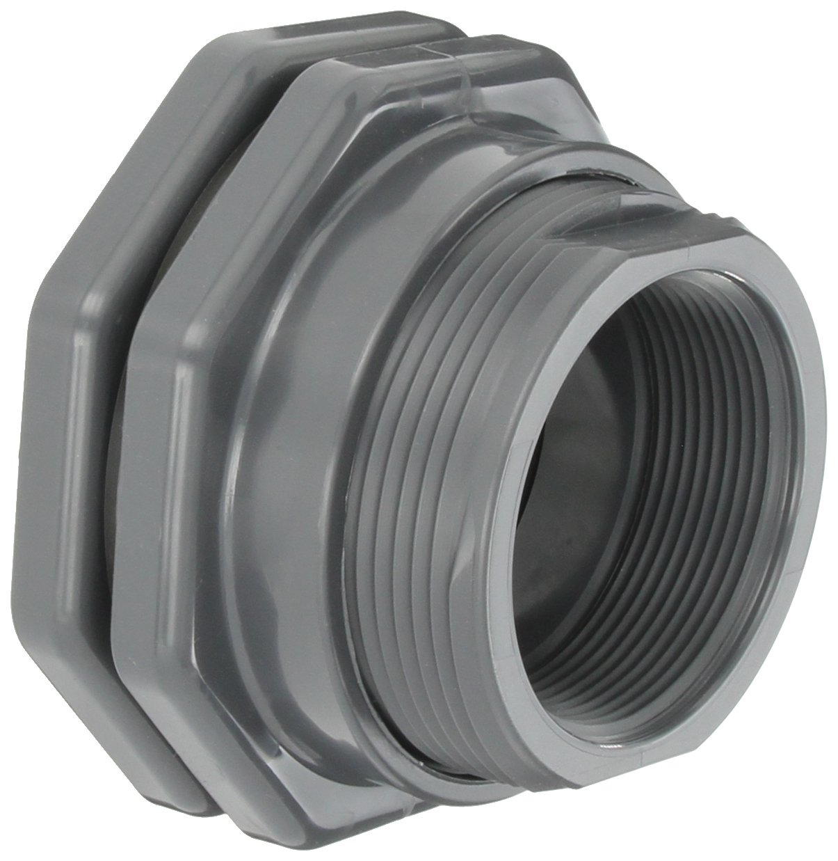 Hayward PVC Bulkhead Fitting, FPM Gasket, 3'' Threaded