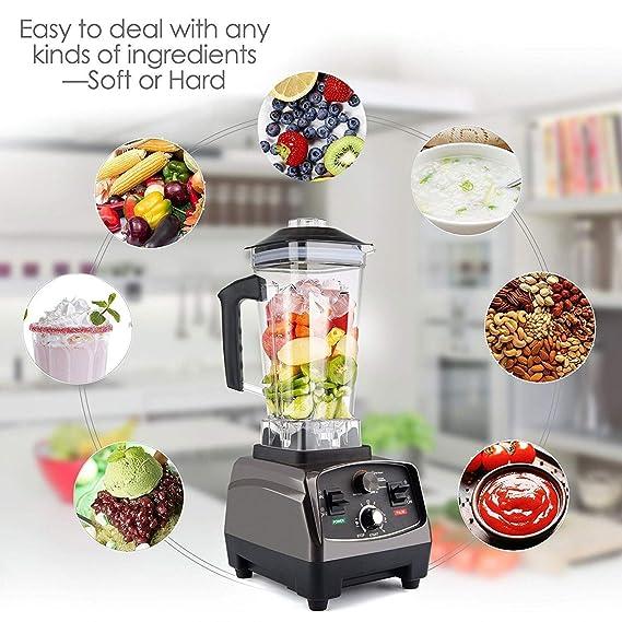 SKONET Licuadora Licuadora Batidora Semi-automática 2L, Cocina Leche De Soja Máquina De Doble Hoja Picadora De Carne 1650W: Amazon.es