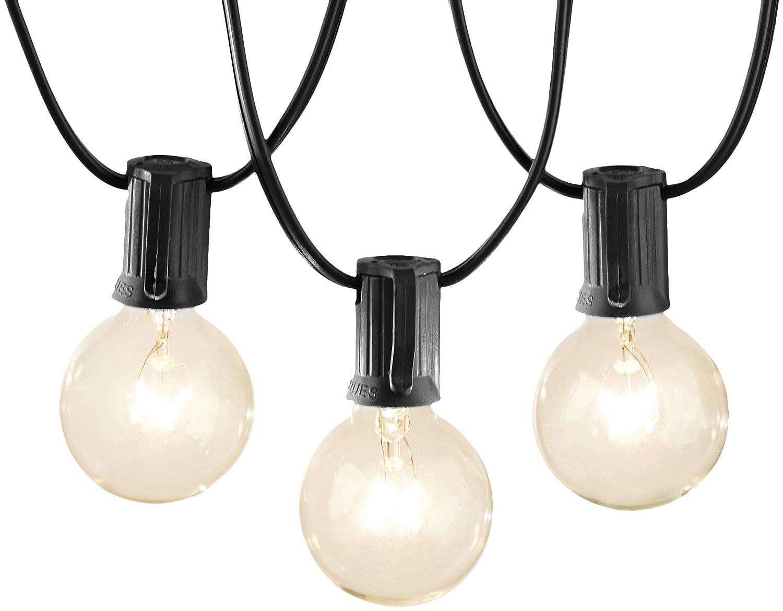 AmazonBasics Patio Lights, Black, 25'
