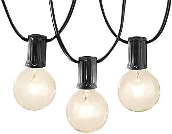 Review AmazonBasics Patio Lights, Black,